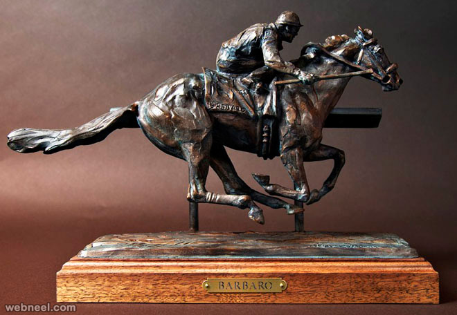 horse bronze sculpture by barbaro
