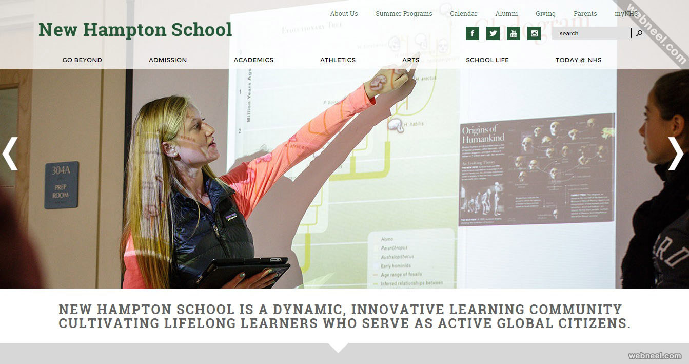 school website newhampton