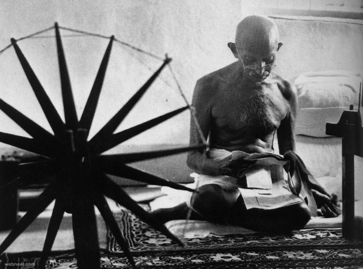 gandhi by best photographer margaret bourke white