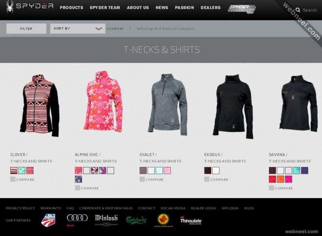 e commerce website spyder