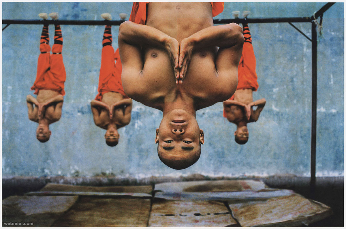 hanging monk famous photographer steve mccurry
