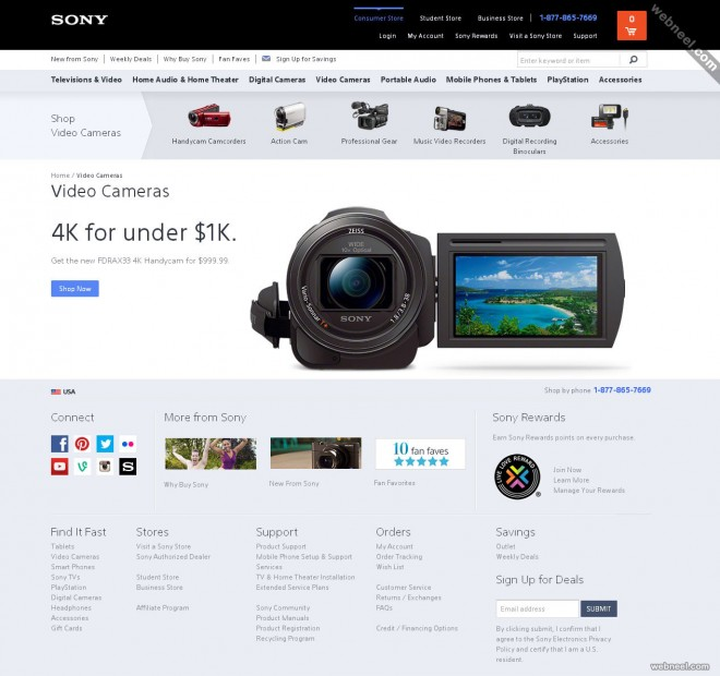 ecommerce website sony