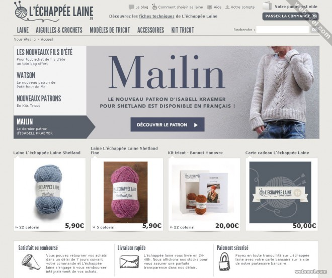 ecommerce website design echappee