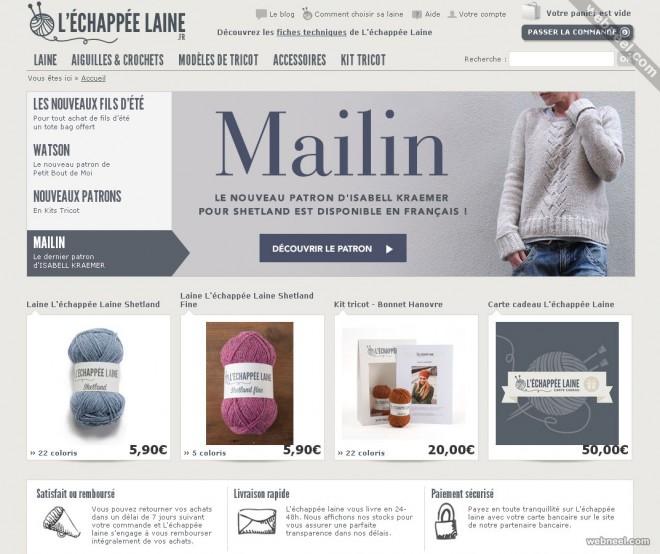 ecommerce website design echappee