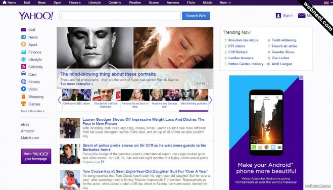 most popular website yahoo