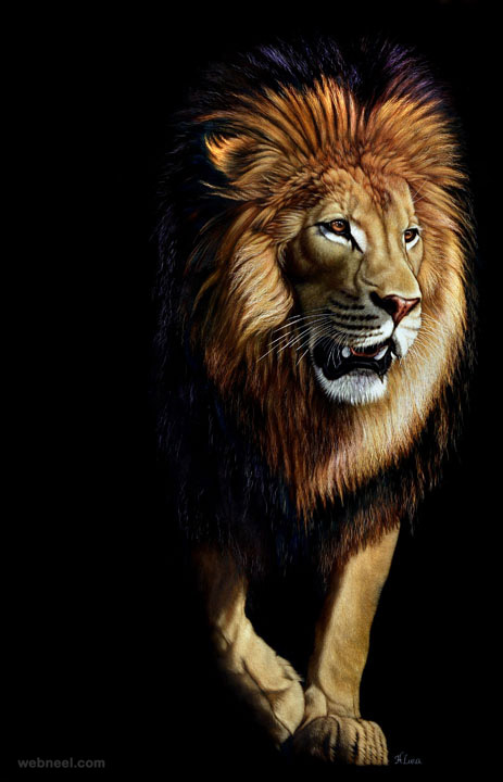 lion painting by heather 6