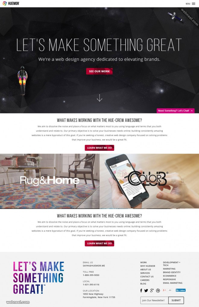 top design company huemor longisland