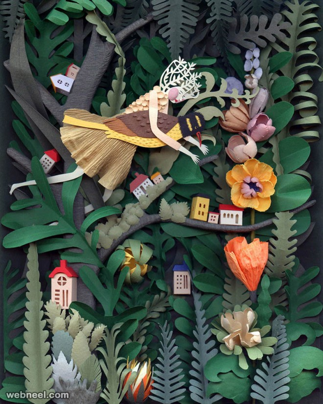 paper sculpture forest