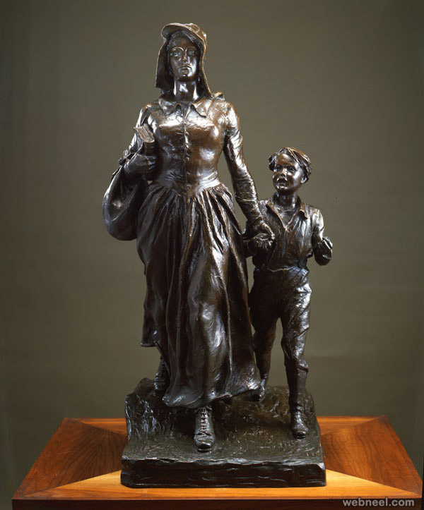 bronze sculpture woman