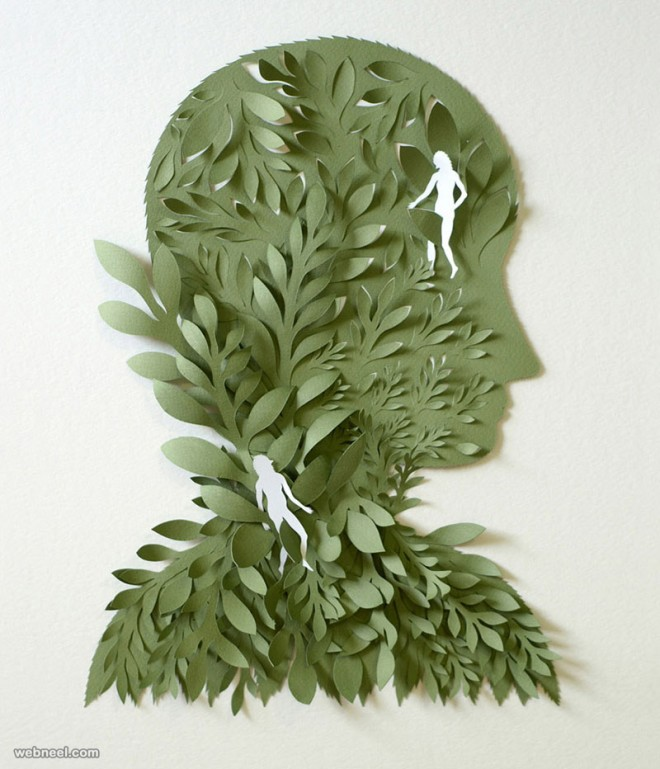 paper sculpture face