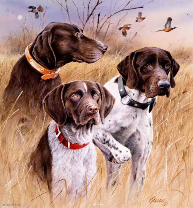 35 beautiful dog paintings and from top artists around the for Dog painting artist