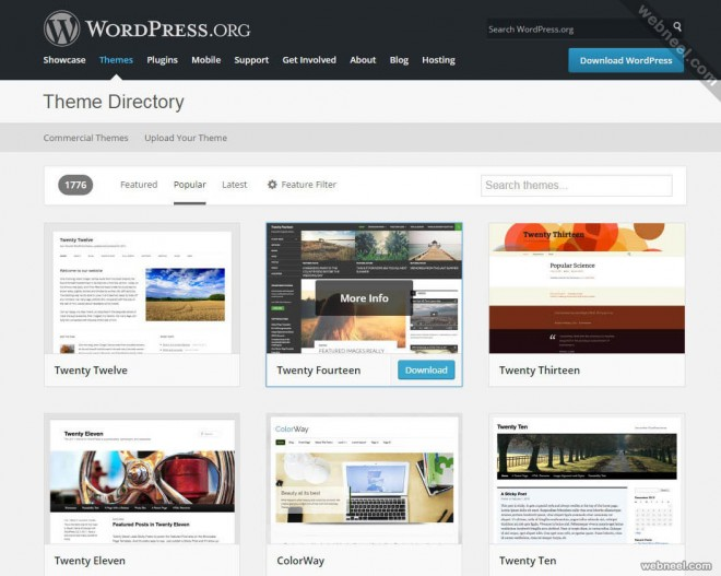 most popular website wordpress