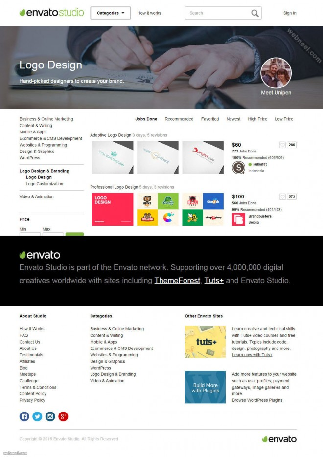 logo design services envato studio, Powerpoint templates