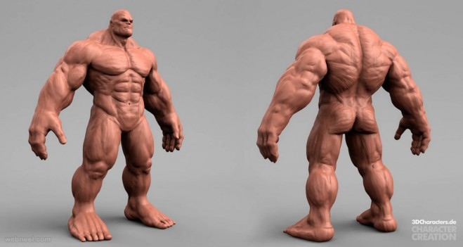 marvel hulk 3d model