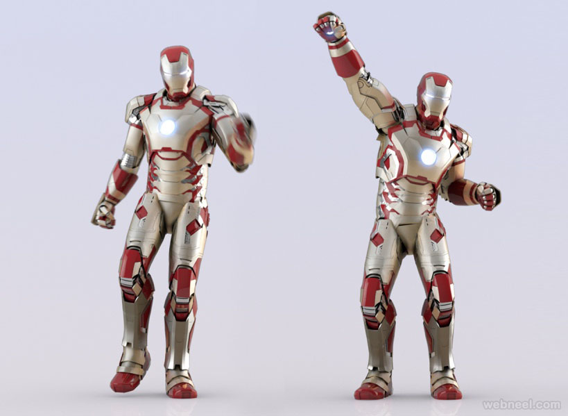 marvel iron 3d modelling