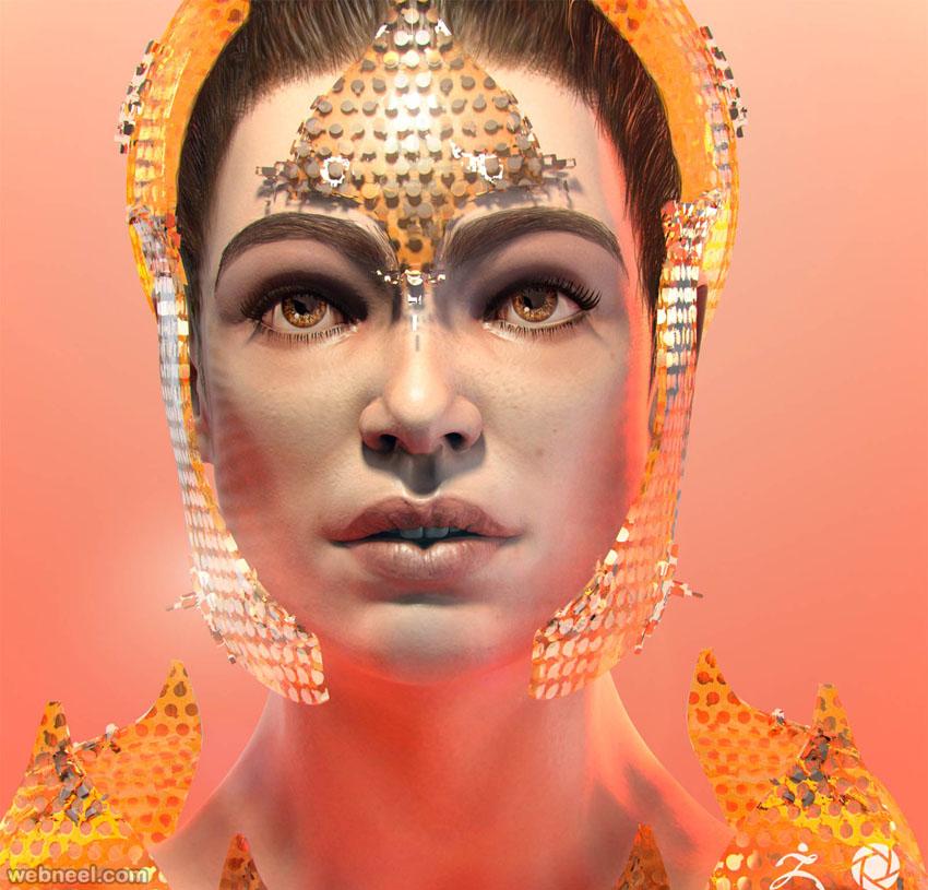 face zbrush model