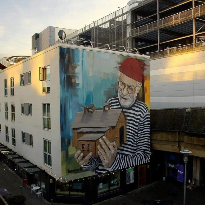 house street art by wal spledor