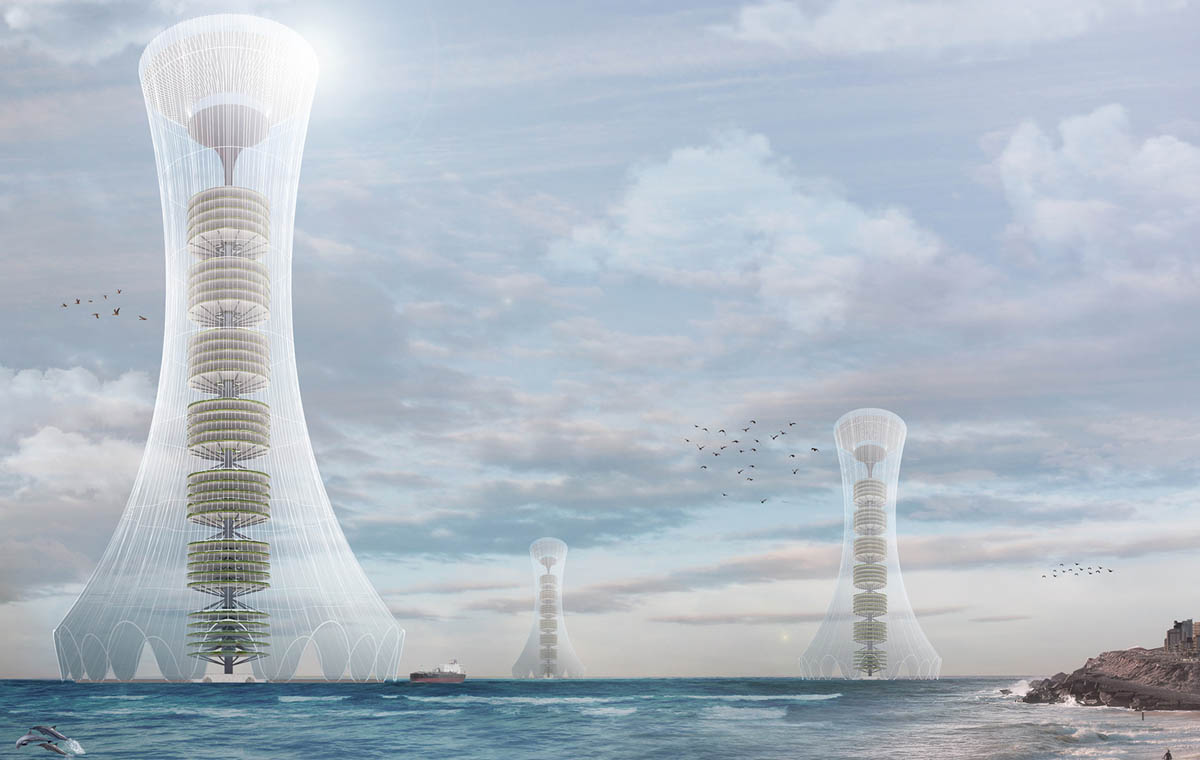 seawater extraction evolo skyscraper competition architecture design