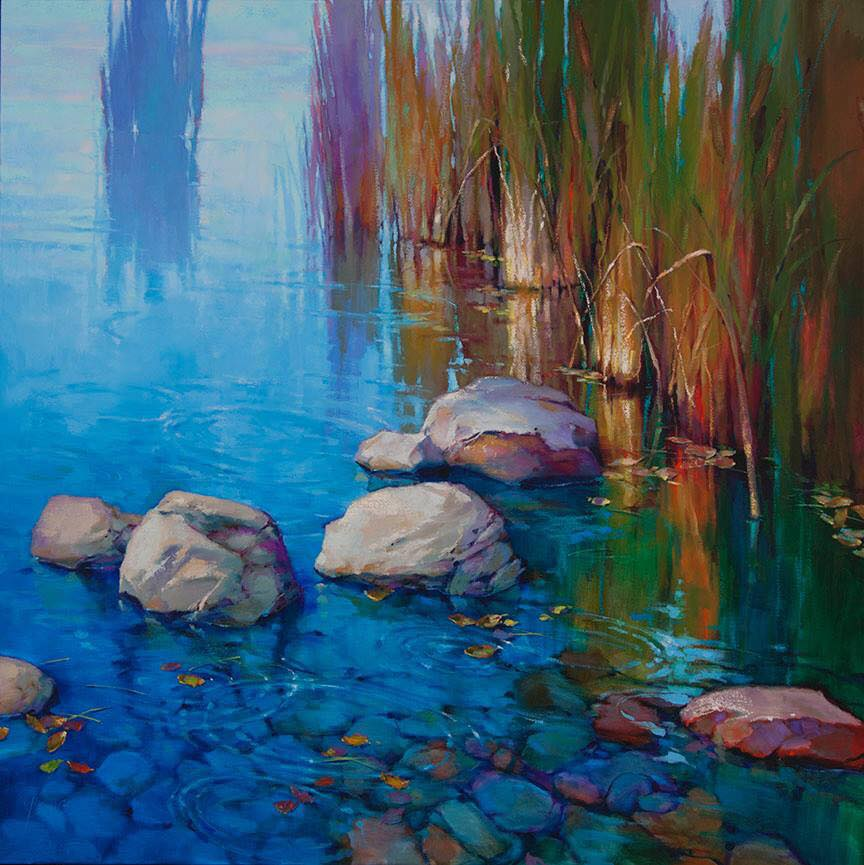 oil painting stones by donna young