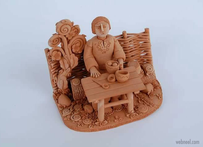 ceramic sculpture artwork meal by illia vaselovych