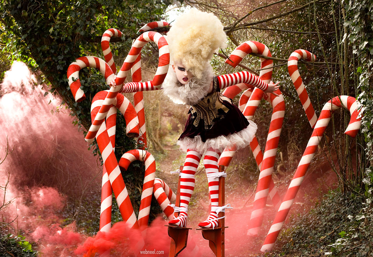 fantasy photography portrait the candy cane witch