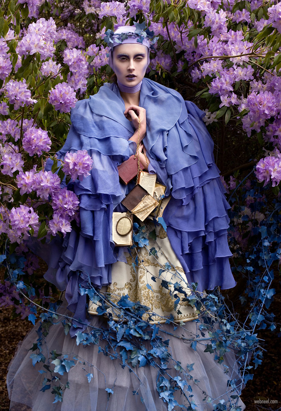fantasy photography portrait the blue saint by kristy mitchell