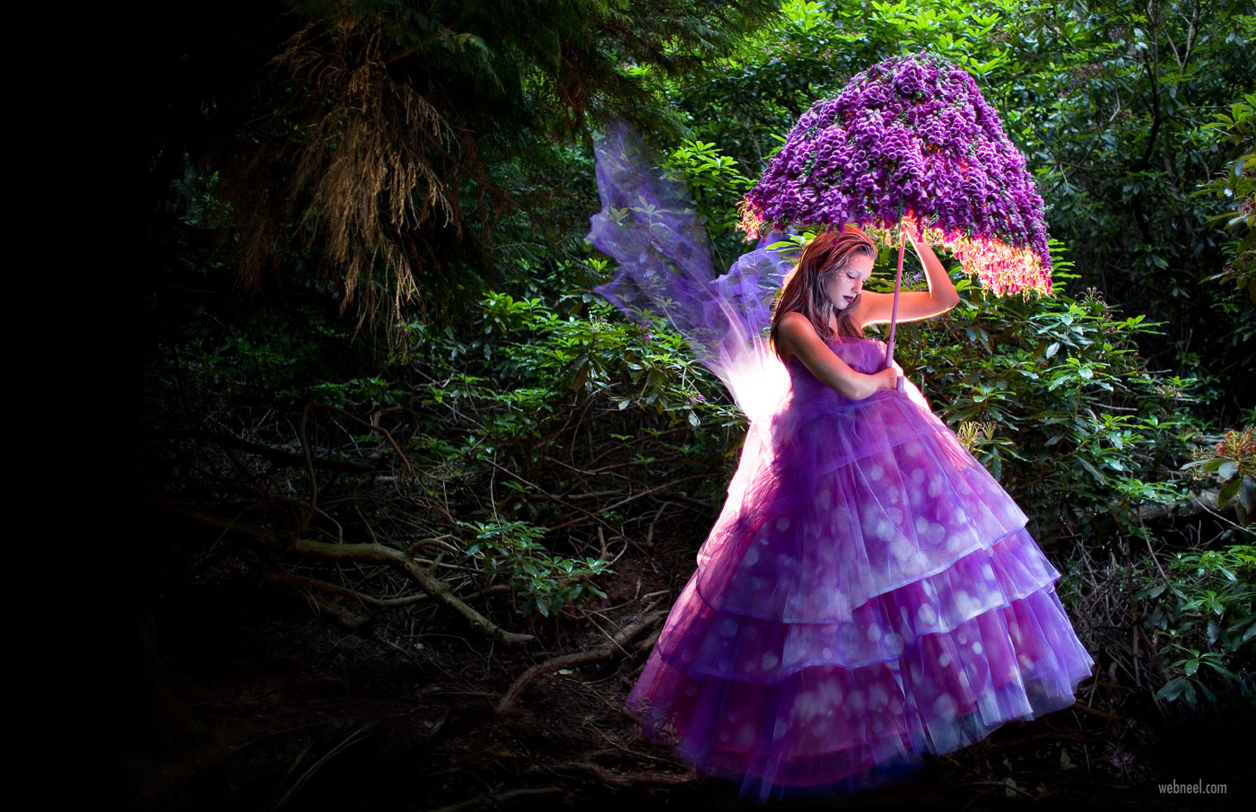 fantasy photography woman portrait the foxglove fairy by kristy
