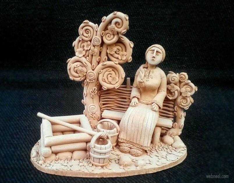 ceramic sculpture artwork rest