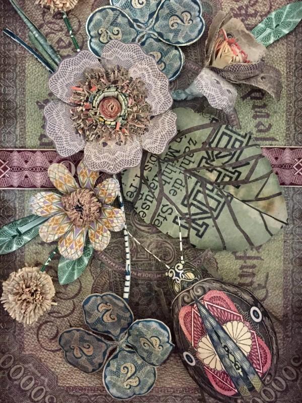 paper art work money by patty grazini