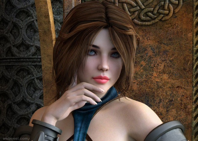 3d woman character design rgus