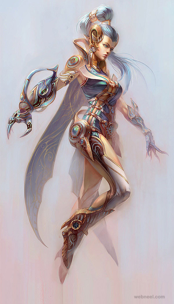 Character Design Digital Art : Mind blowing digital art works and fantasy character