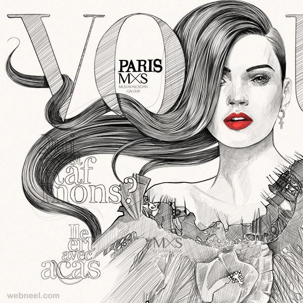 marilyn monroe illustration by mustafa soydan