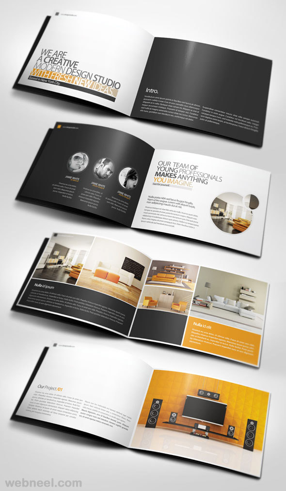 50 creative corporate brochure design ideas for your inspiration. Black Bedroom Furniture Sets. Home Design Ideas