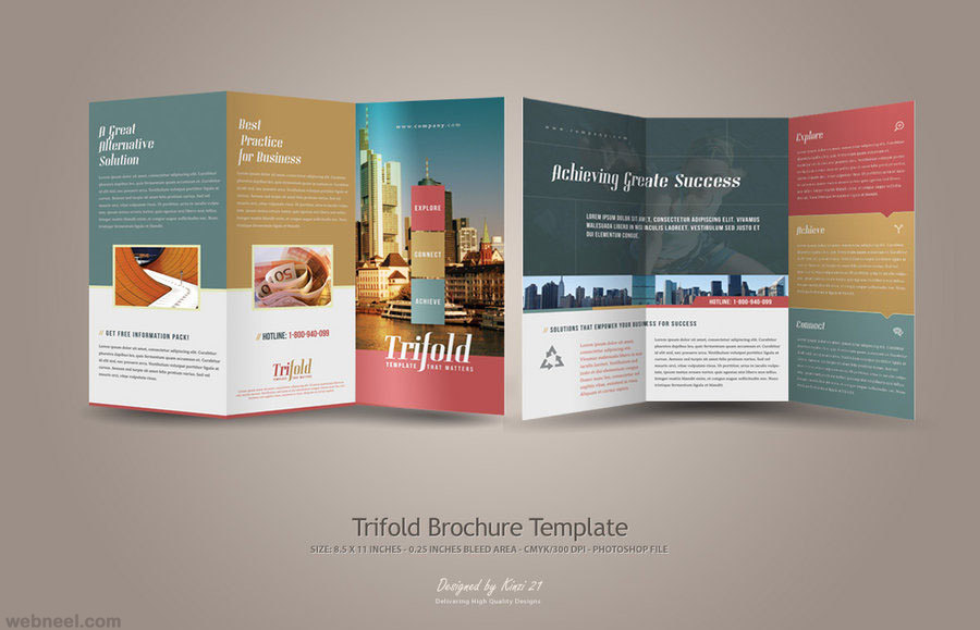 creative trifold brochure design