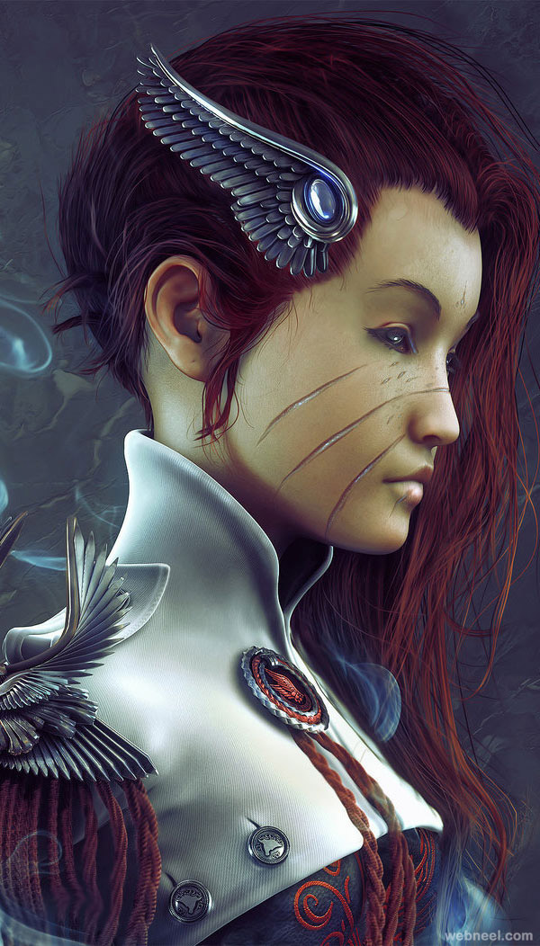 3d woman character