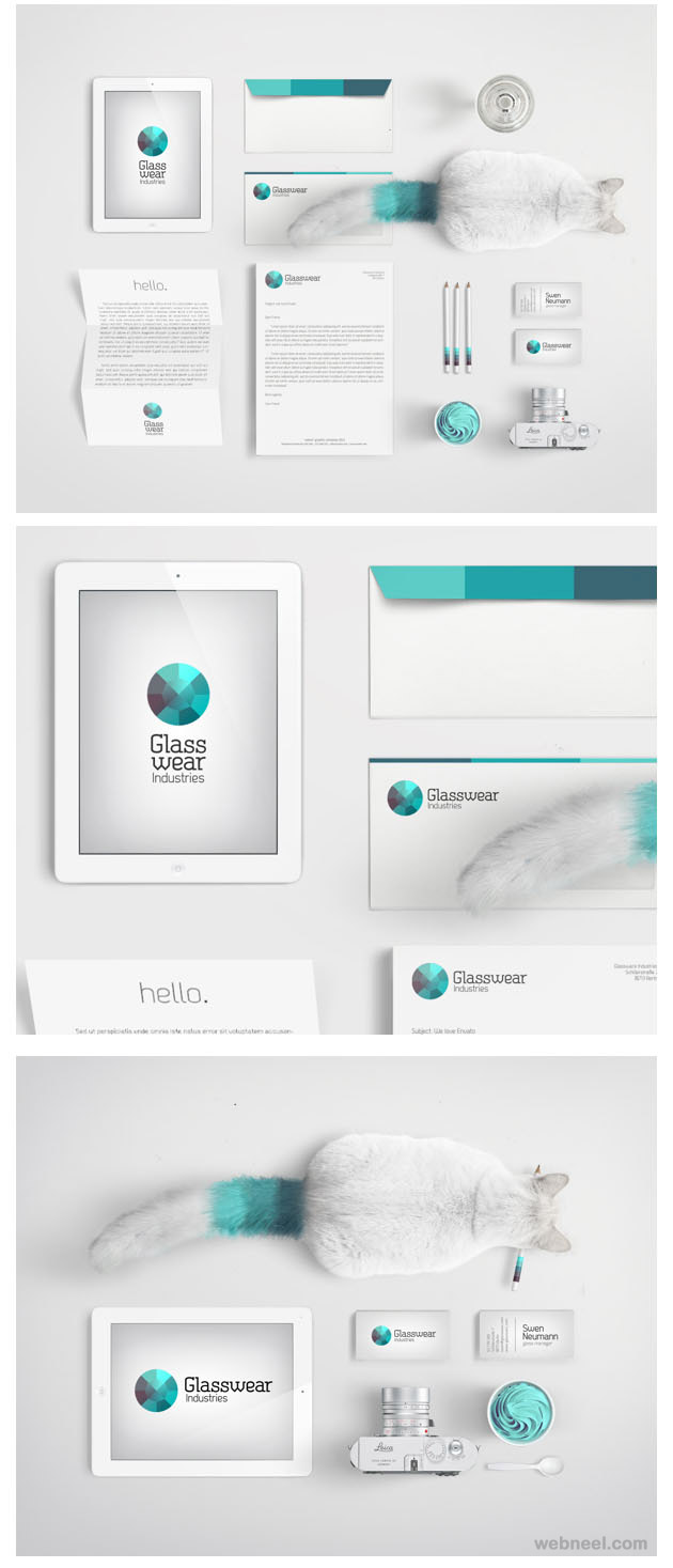 glasswear creative branding design