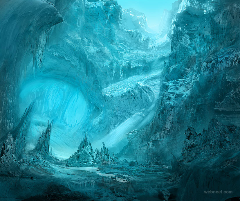 ice matte painting
