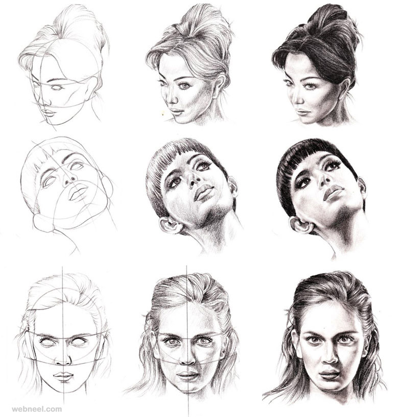 Pencil Drawing Step By Step Face