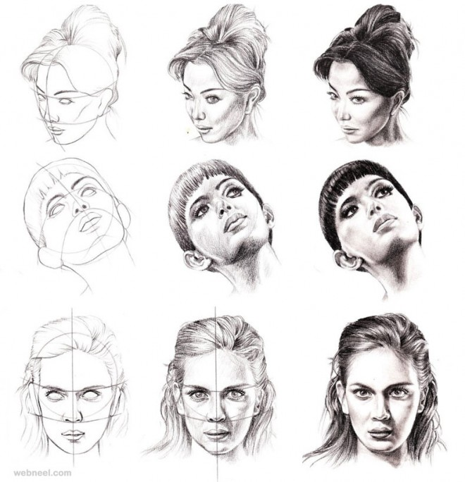 Pencil Drawing Faces Step By Step