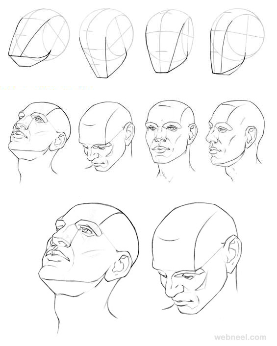 How to draw a face 25 step by step drawings and video tutorials how to draw faces ccuart Image collections