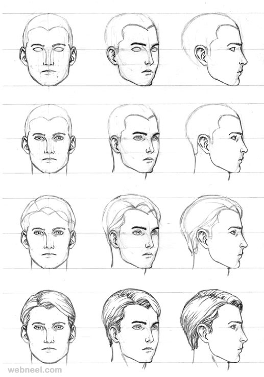 Gallery For gt How To Draw A Realistic Face Step By