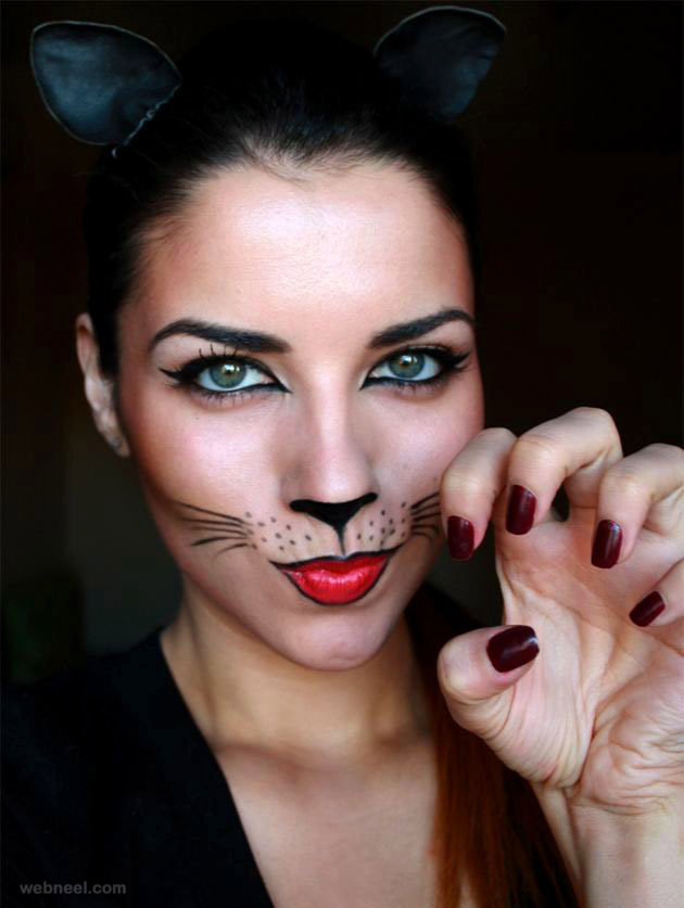 The Gallery For gt Halloween Simple Cat Face Paint