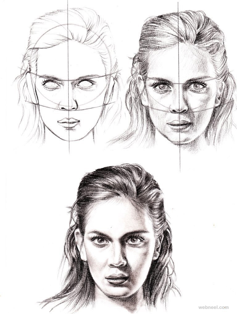 Scribble Drawing Of Face : How to draw a face full image