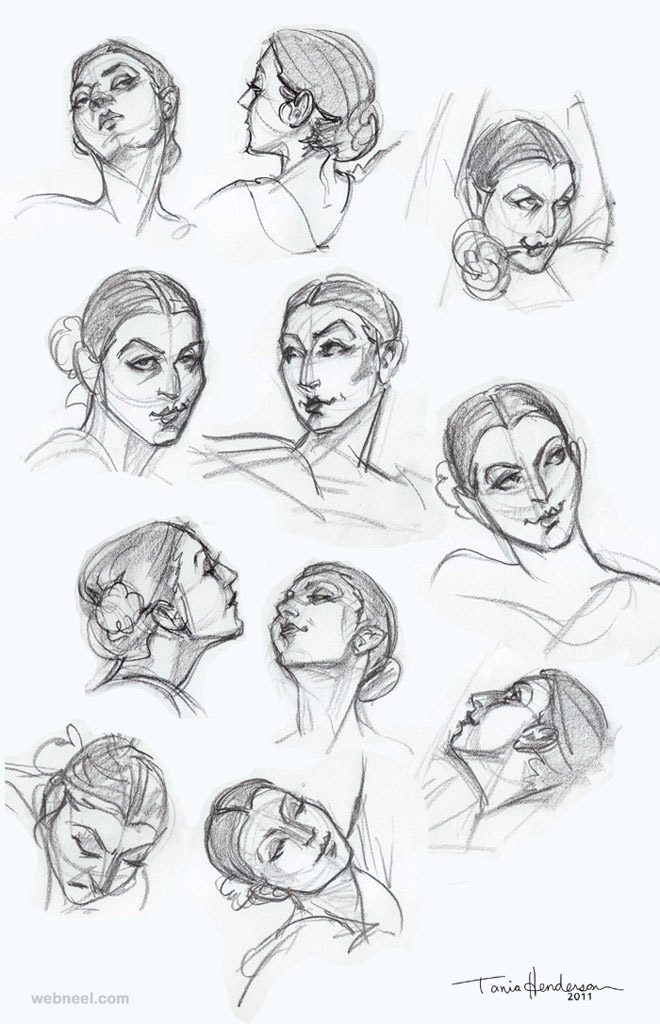 Face drawing video tutorials