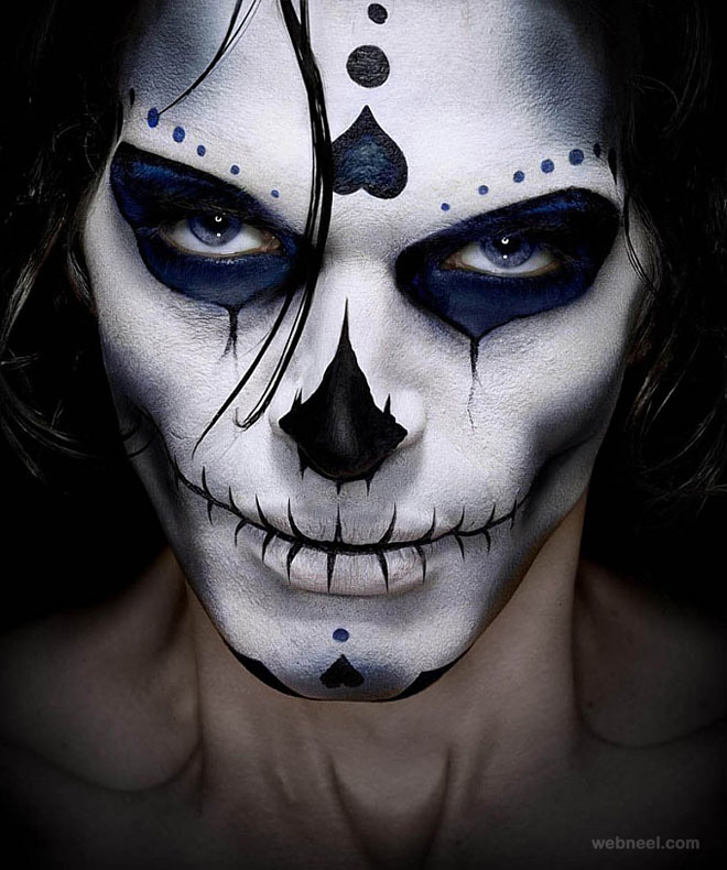 40 Beautiful Face painting Ideas from Top artists around - Mens Halloween Makeup