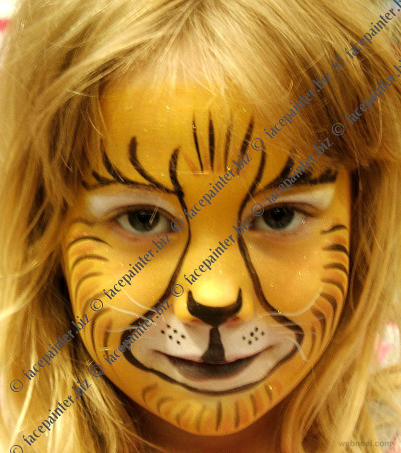 lion face paint