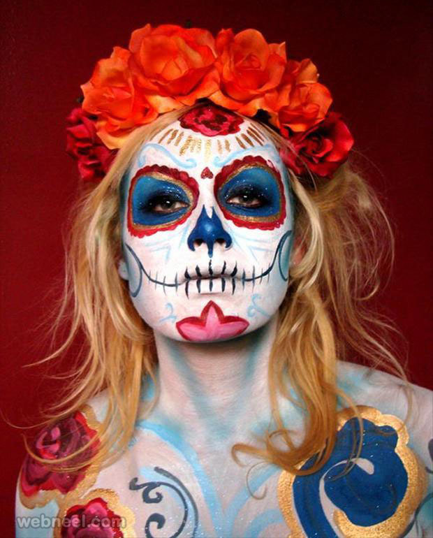 halloween face paint ideas 39  preview - Best Halloween Face Painting Ideas