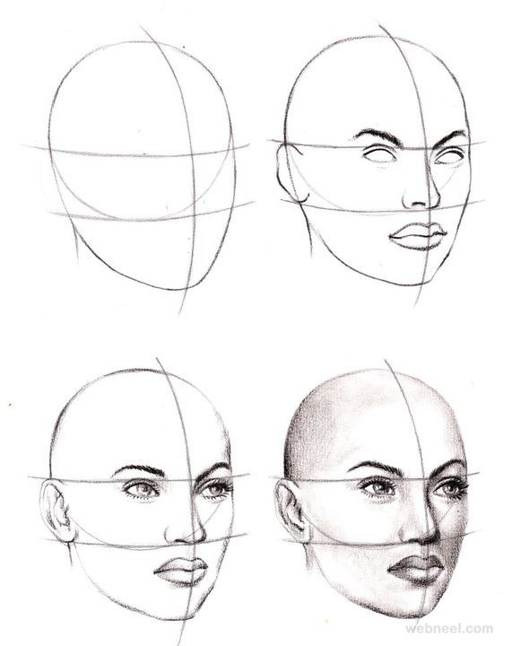 How to draw a face face drawing