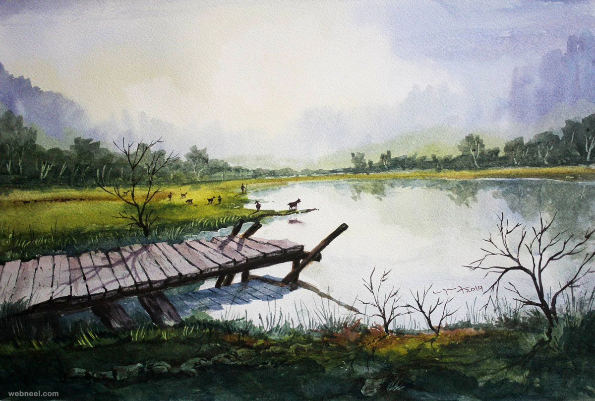 Good Landscape Water - 12-watercolor-painting-by-balakrishnan  HD_619864.jpg