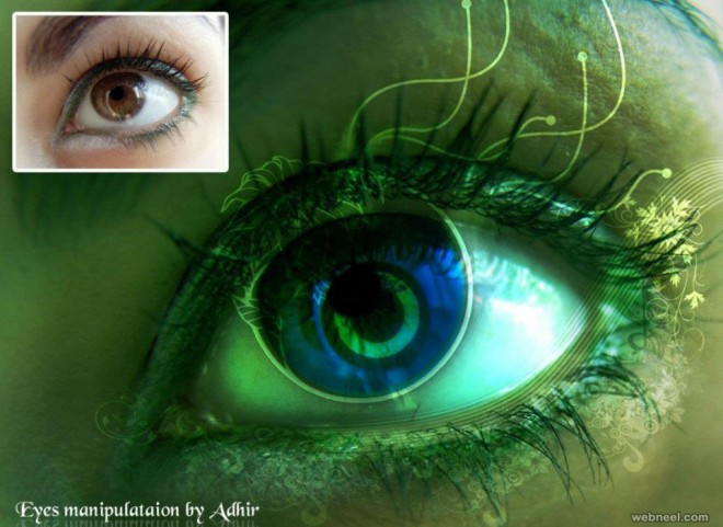 eyes photo manipulation by adhir